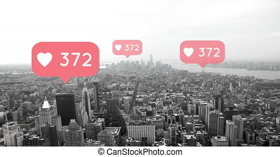 City with increasing hearts count 4k