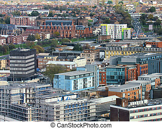 City with old architecture in liverpool