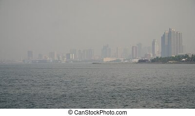 City with skyscrapers and buildings. Philippines, Manila,...