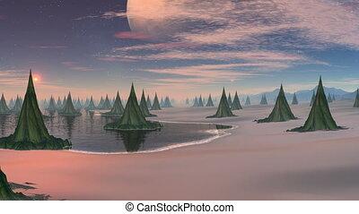 City (wood) of aliens.