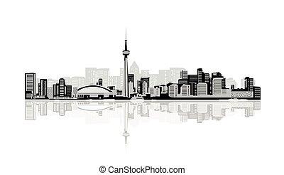 city..eps, grande, branca, pretas, contorno