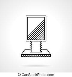 Citylight line vector icon - Black flat line design vector...
