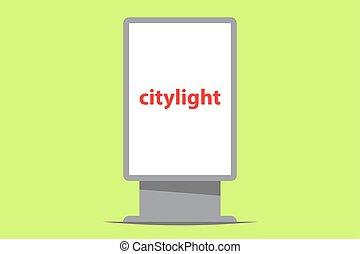 citylight outdoor advertising vector illustration
