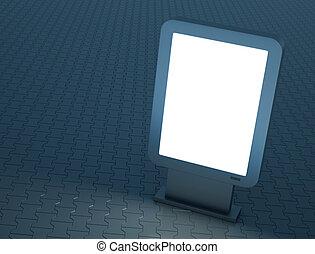 Citylight - Bright citylight sign, 3D render.