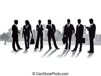 citys, grupo, pessoas negócio