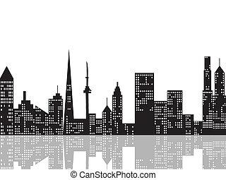 cityscape, éjjel