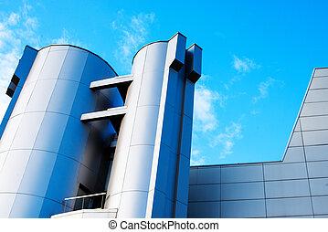 cityscape, úřad, moderní building