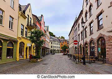 cityscape , από , alesund , νορβηγία