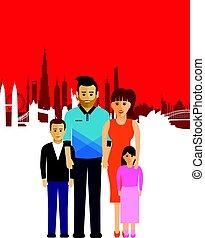 cityscape , οικογένεια , φόντο