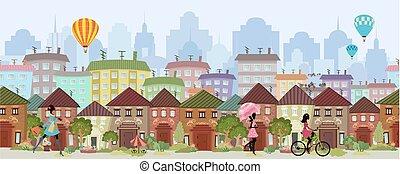 cityscape , σύνορο , seamless