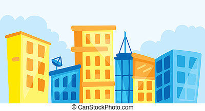 cityscape, мультфильм