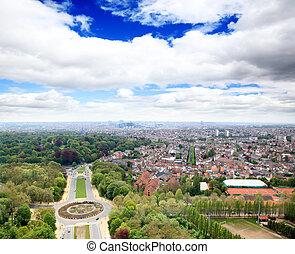 cityscape, aéreo, bruselas, vista