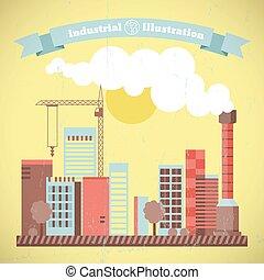 cityscape, ambiant, industriel