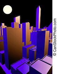 Cityscape at night - Cityscape at night
