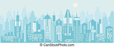 Cityscape background. Vector illustration
