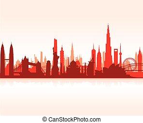 cityscape, berühmt, wahrzeichen