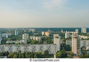 Cityscape - Birdeye view - Cityscape at sunny day - Bird eye...