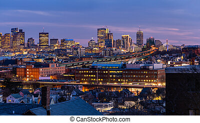 cityscape, boston, panorama