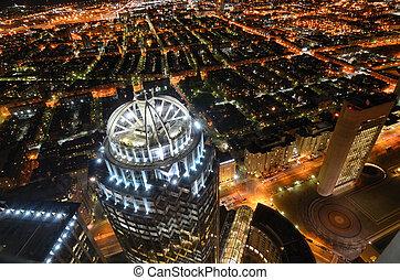 cityscape, boston, rückseitige bucht