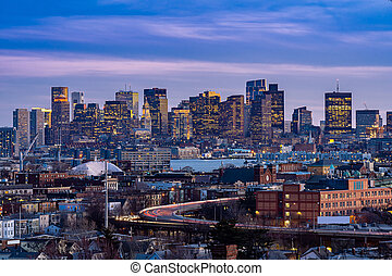 cityscape, boston