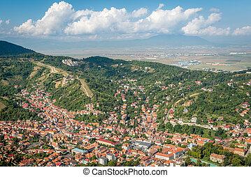 cityscape, brasov, topo, romani, vista