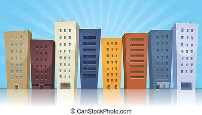 cityscape, caricatura