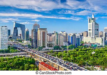 cityscape, china, beijing, cbd