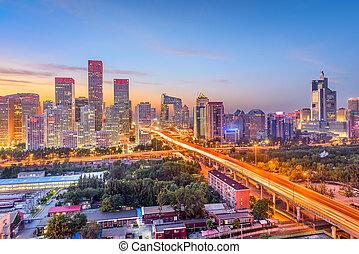 cityscape, china, financiero, beijing, distrito