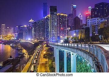 cityscape, chongqing, kína