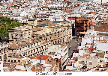 Cityscape, cidade, Espanha, Sevilha