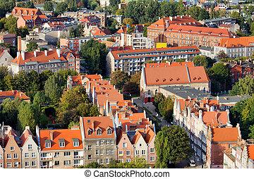 Cityscape, cidade, Polônia,  Gdansk