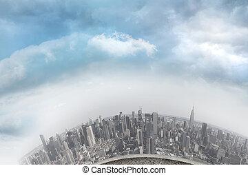 cityscape, courbé