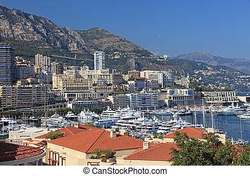 cityscape, de, a, principality, monaco, riviera francês, europe.