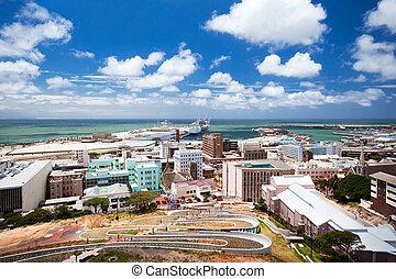 cityscape, de, elizabeth port, afrique sud