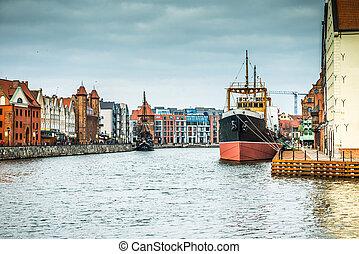 cityscape, de, gdansk