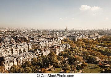 cityscape, de, parís, ciudad