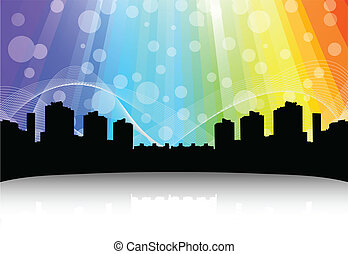Cityscape design. Abstract background