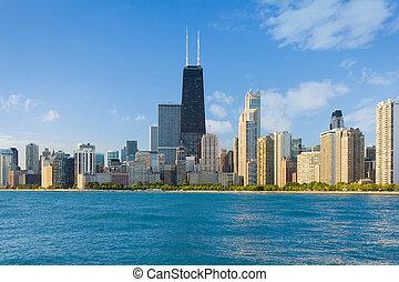 cityscape, di, chicago