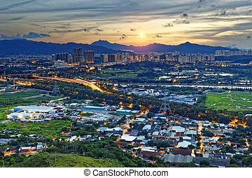 cityscape, di, yuen, lungo