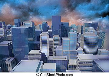 cityscape , digitally γεννώ