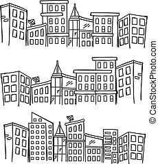cityscape, doodle