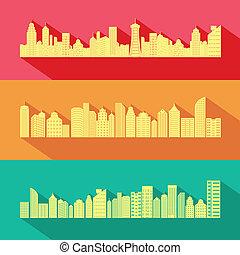 cityscape, edificio, rascacielos