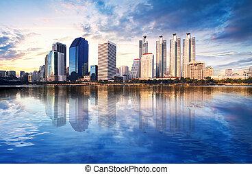 cityscape, em, bangkok, tailandia