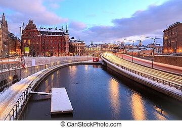 Cityscape, Estocolmo, carretera