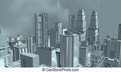Cityscape flight