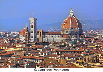 Cityscape Florence - Florence cityscape with famous Duomo...