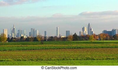 Cityscape Frankfurt Germany