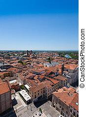 """Cityscape from """"Bassano del Grappa"""", Italian landscape"""