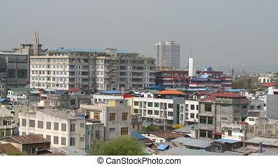 cityscape, grand, bâtiments