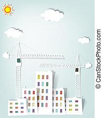 cityscape, gru, torre